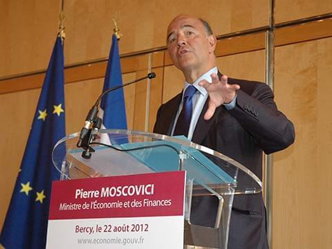 Le ministre de l'économie et des finances Pierre Moscovi